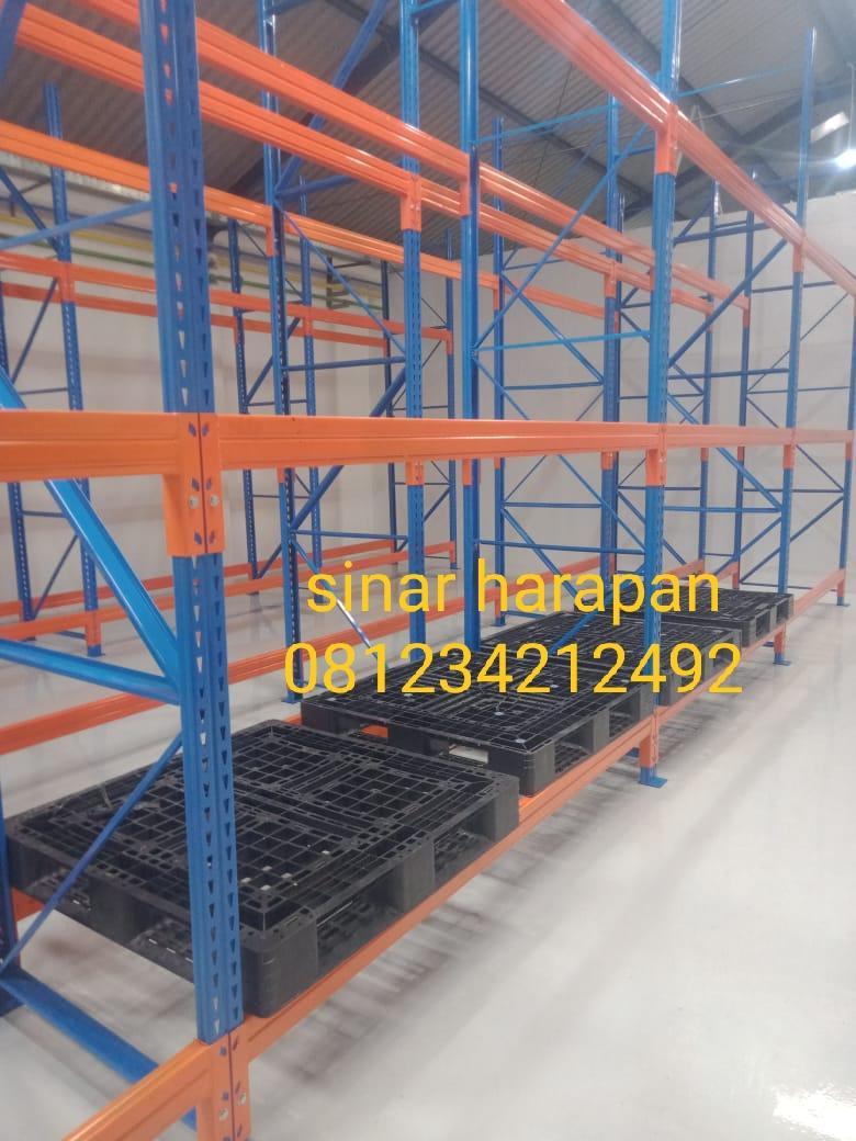 rak gudang besi, rak gudang heavy duty, rak gudang medium storage
